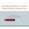 A baseline method for search-based software engineering