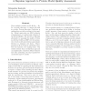 A Bayesian approach to protein model quality assessment