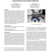 A bayesian reinforcement learning approach for customizing human-robot interfaces