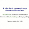 A bijection for covered maps on orientable surfaces