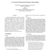 A Case Study of Domain-based Program Understanding