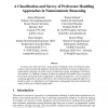 A Classification and Survey of Preference Handling Approaches in Nonmonotonic Reasoning