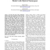 A Collaborative Inter-Data Grid Strong Semantic Model with Hybrid Namespace