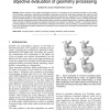 A Comparison of Perceptually-Based Metrics for Objective Evaluation of Geometry Processing