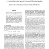 A Constraint Satisfaction Approach to Parametric Differential Equations
