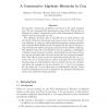 A Constructive Algebraic Hierarchy in Coq