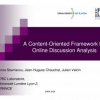 A Content-Oriented Framework for Online Discussion Analysis