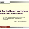 A Context-Based Institutional Normative Environment