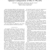 A Control-Theoretic Approach to Distributed Optimal Configuration of 802.11 WLANs