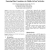 A Data Replication Scheme based on Primary Copy for Ensuring Data Consistency in Mobile Ad hoc Networks