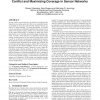 A decentralised coordination algorithm for minimising conflict and maximising coverage in sensor networks
