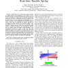A Development of a Fully Self-contained Real-time Tunable Spring