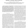 A Dynamic Programming Approach for Routing in Wireless Mesh Networks
