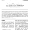 A dynamic routing protocol for keyword search in unstructured peer-to-peer networks