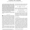 A dynamical system perspective of structural learning with forgetting