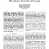 A Flexible Advance Reservation Model for Multi-Domain WDM Optical Networks