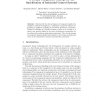 A Formal Component Concept for the Specification of Industrial Control Systems