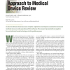 A Formal Methods Approach to Medical Device Review