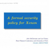 A formal security policy for xenon