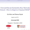 A Forward-Secure Symmetric-Key Derivation Protocol - How to Improve Classical DUKPT