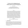 A framework for building reusable mobile agents for network management