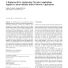 A Framework for Engineering Pervasive Applications Applied to Intra-vehicular Sensor Network Applications