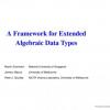 A Framework for Extended Algebraic Data Types