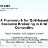 A Framework for QoS-based Resource Brokering in Grid Computing