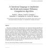 A functional language to implement the divide-and-conquer Delaunay triangulation algorithm