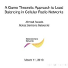A game-theoretic approach to load balancing in cellular radio networks