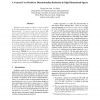 A General Cost Model for Dimensionality Reduction in High Dimensional Spaces