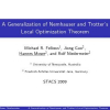 A Generalization of Nemhauser and Trotter's Local Optimization Theorem