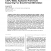 A GPU-Based Application Framework Supporting Fast Discrete-Event Simulation