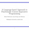 A language-based approach to functionally correct imperative programming