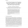 A Level-based Approach to Computing Warranted Arguments in Possibilistic Defeasible Logic Programming