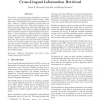A Low Cost Machine Translation Method for Cross-Lingual Information Retrieval
