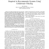 A lower-bound on the number of rankings required in recommender systems using collaborativ filtering