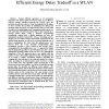 A MAC layer power management scheme for efficient energy delay tradeoff in a WLAN