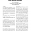 A matching based decomposer for double patterning lithography