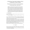 A Method for Time Series Prediction using a Combination of Linear Models