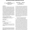 A methodology for generating verified combinatorial circuits