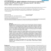 A methodology for global validation of microarray experiments
