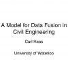 A Model for Data Fusion in Civil Engineering
