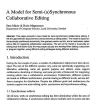 A Model for Semi-(a)Synchronous Collaborative Editing