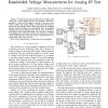 A mostly-digital analog scan-out chain for low bandwidth voltage measurement for analog IP test