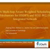 A Multi-hop Aware Weighted Scheduling Mechanism for HSDPA and IEEE 802.11 Integrated Network