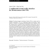 A multimodal virtual reality interface for 3D interaction with VTK