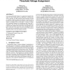 A new algorithm for simultaneous gate sizing and threshold voltage assignment