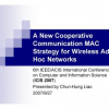 A New Cooperative Communication MAC Strategy for Wireless Ad Hoc Networks