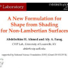 A New Formulation for Shape from Shading for Non-Lambertian Surfaces